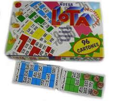 Lotería 96 Cartones