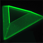 Base de exhibición fluorescente