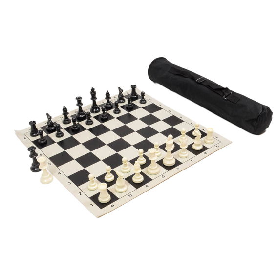 Set de ajedrez enrollable para torneo, extra peso