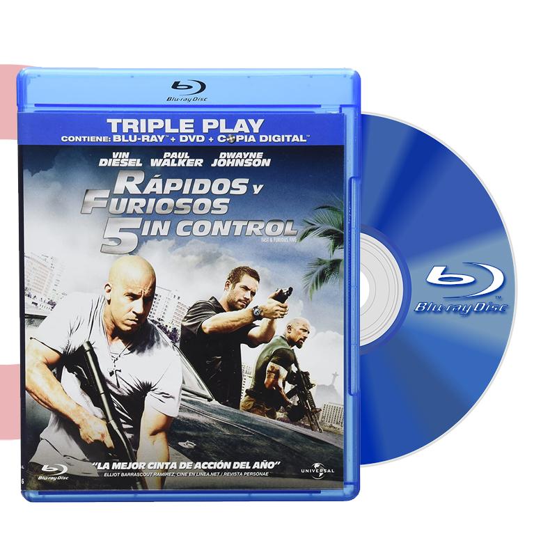Blu Ray RAPIDOS Y FURIOSOS 5IN CONTROL BD+DVD