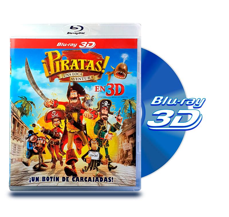 Blu Ray 3D Piratas Una Loca Aventura