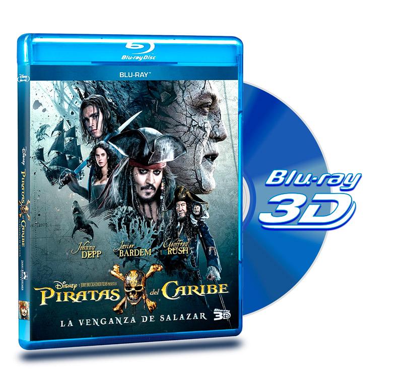 Blu Ray 3D Piratas del Caribe 5 La Venganza del Salazar