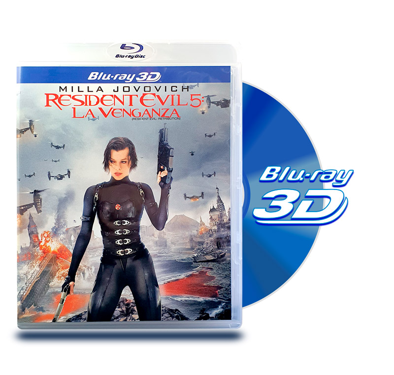 Blu Ray 3D Resident Evil 5 La Venganza
