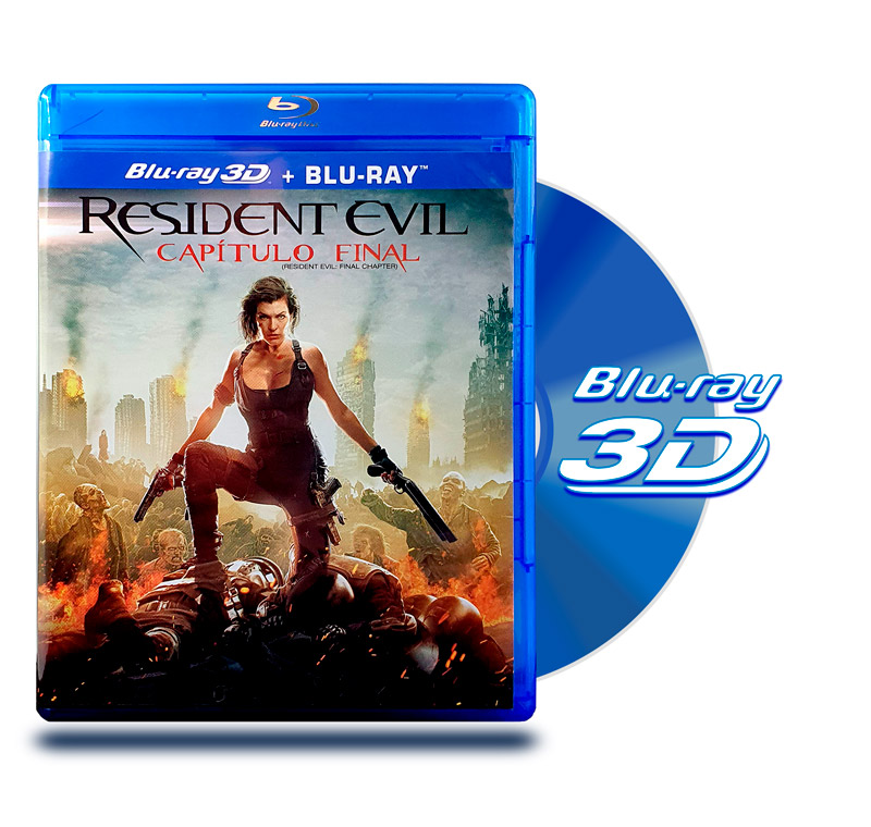 Blu Ray 3D Resident Evil Capitulo Final