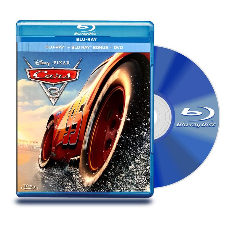 Blu Ray Cars 3 BD+ DVD + Bonus