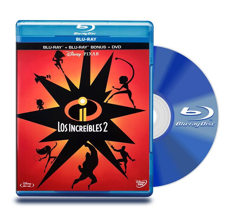 Blu Ray Los Increibles 2 BD + Bonus + DVD