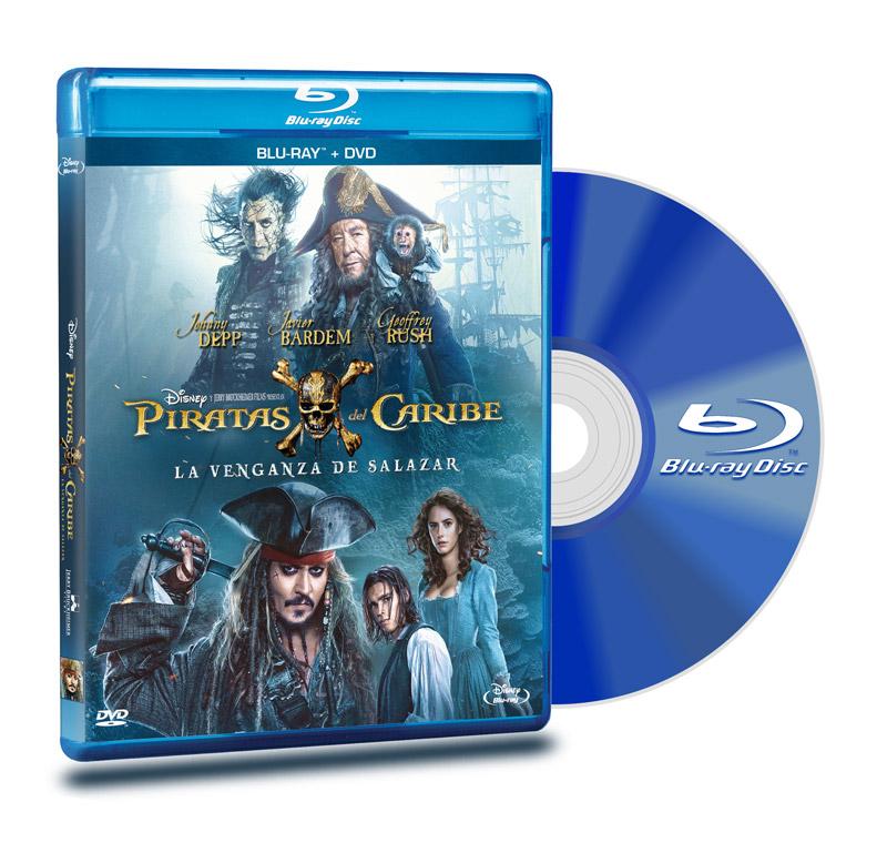 Blu Ray Piratas Del Caribe 5 + DVD