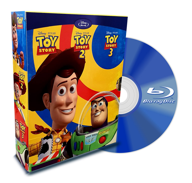 PACK Blu Ray Toy Story 1-2-3