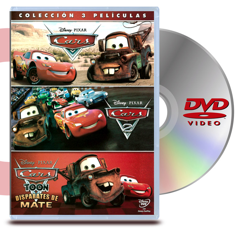 PACK DVD Cars 1 y 2 + Cars Toon Disparates de Mate