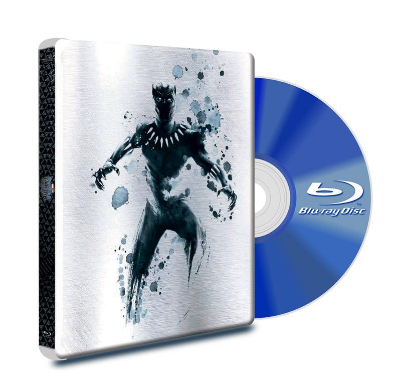 Steel Book Blu Ray Black Panther BD+DVD