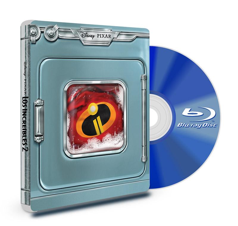 Steel Book Blu Ray Los Increíbles 2 + DVD + Blu Ray Bonus