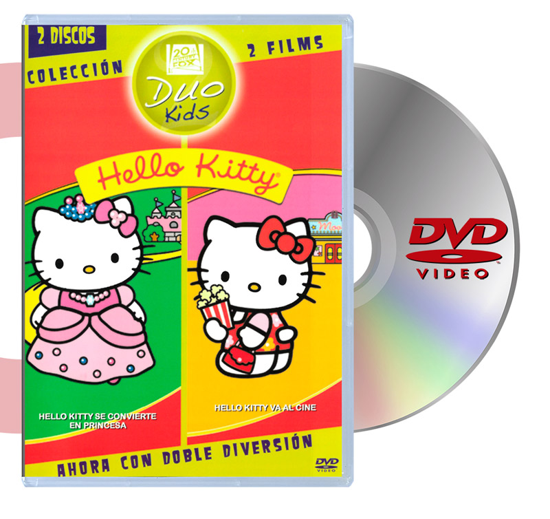 DVD Hello Kitty Se Convierte En Princesa y Va Al Cine