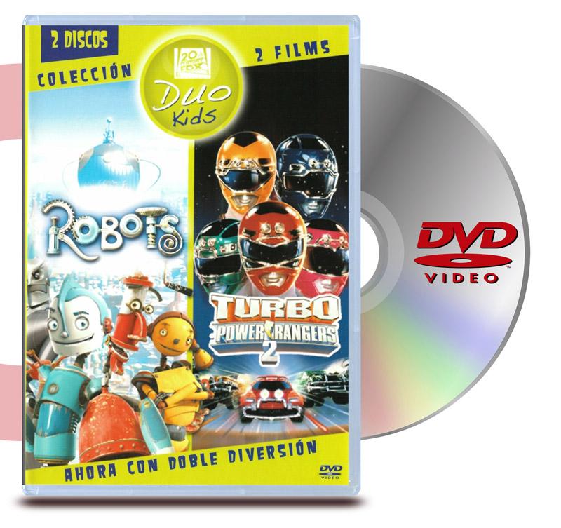 DVD Pack Robots + Power Rangers Turbo