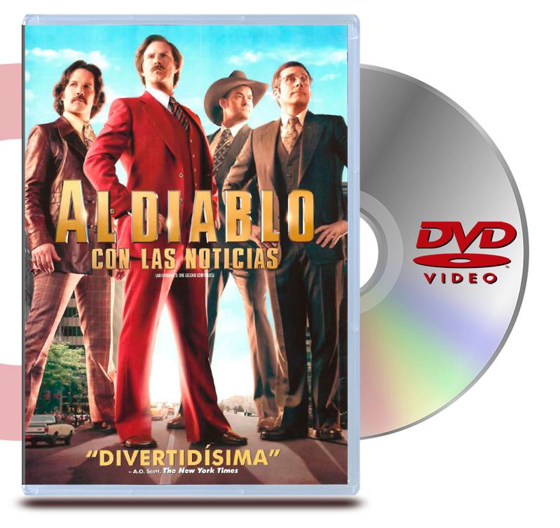 DVD Anchorman 2: Al Diablo Las Noticias