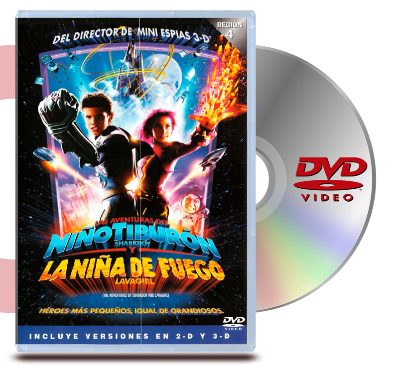 DVD Las Aventuras del Niño Tiburon y la Niña de Fuego