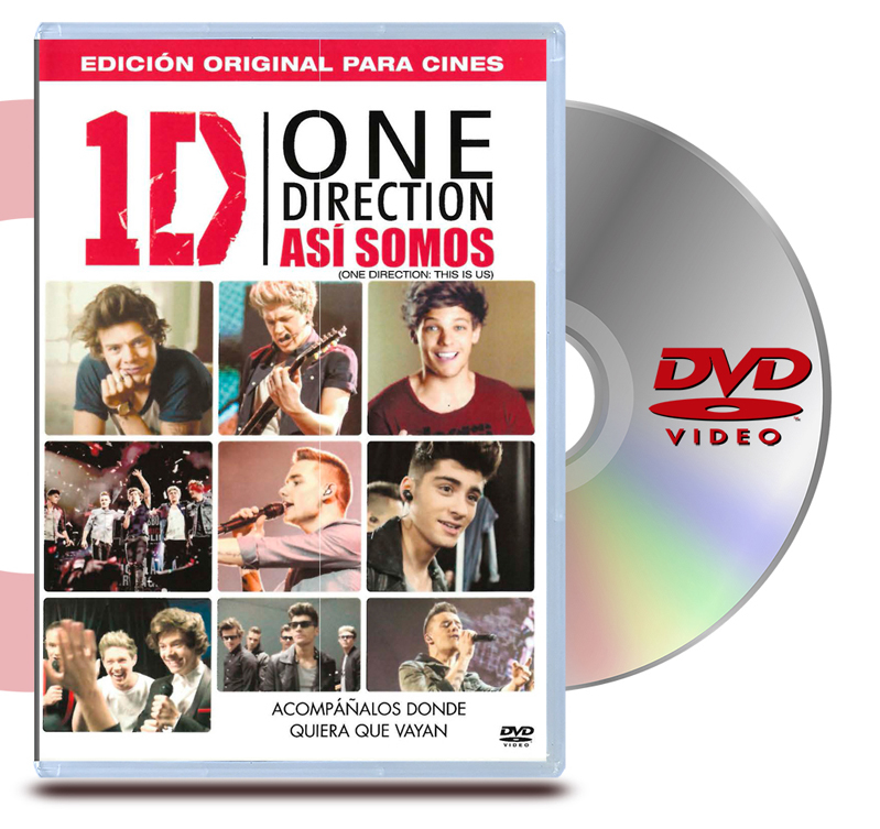 DVD One Direction This Is Us: Asi Somos