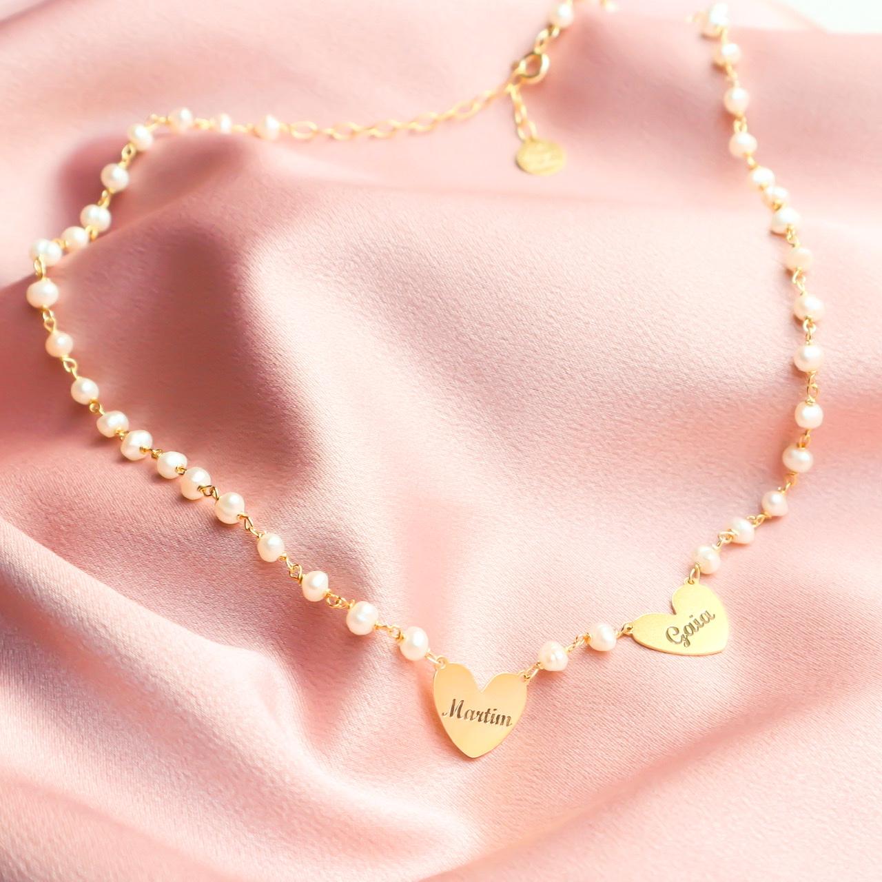 Colar pérolas | amor é o laço entre dois corações