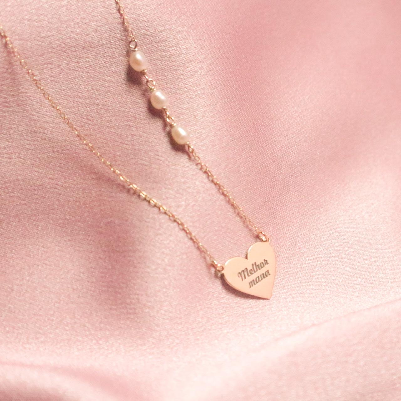 Colar coração | amor é encontrar um lar noutro peito