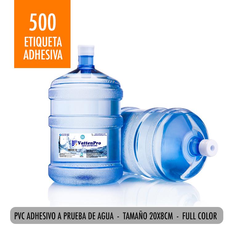 Pack 500 Etiquetas Bidon Agua