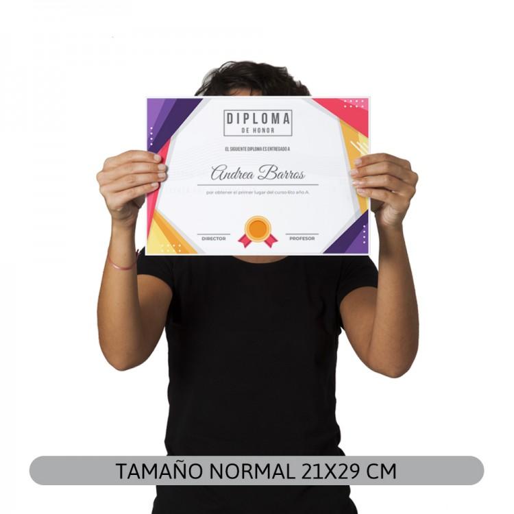 Diploma A4/Carta - Por Mayor