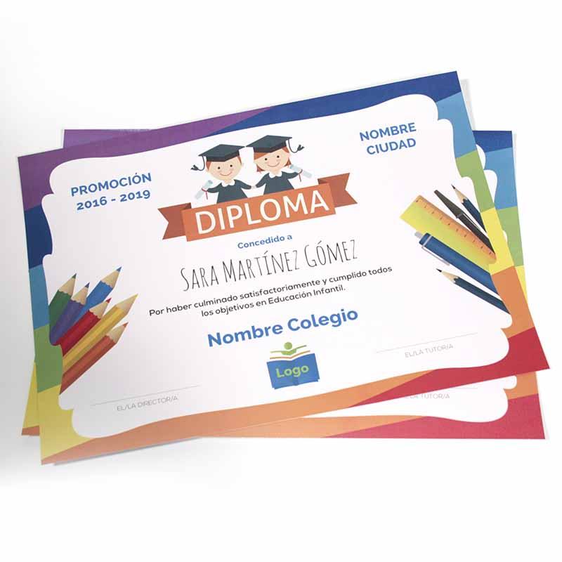 Diploma x Unidad - A4 / Carta