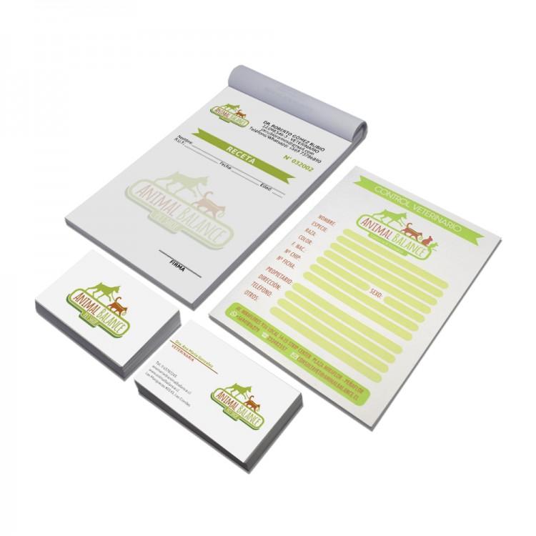 Pack Veterinario - Tarjetas - Recetario - Carnet Control