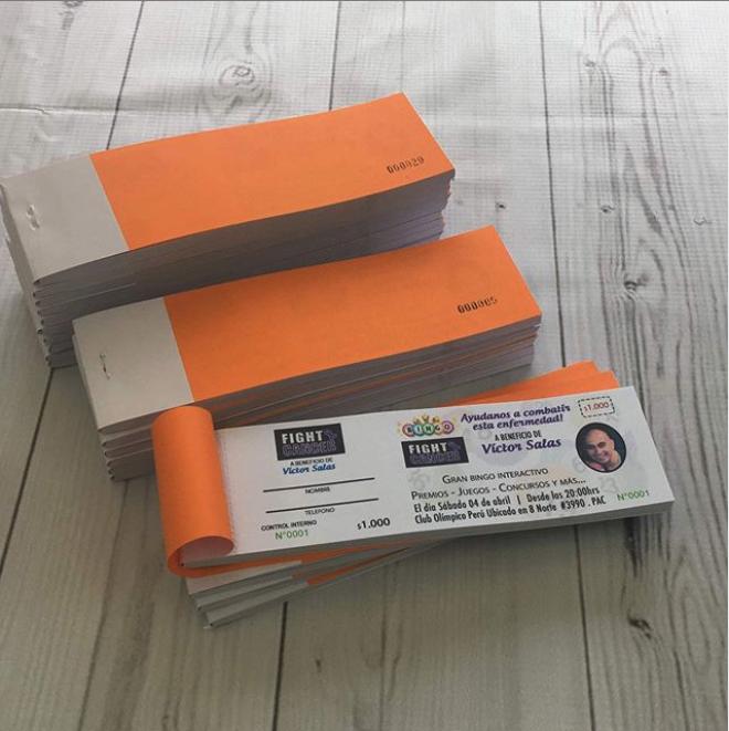 Pack Entradas & Ticket Papel Bond