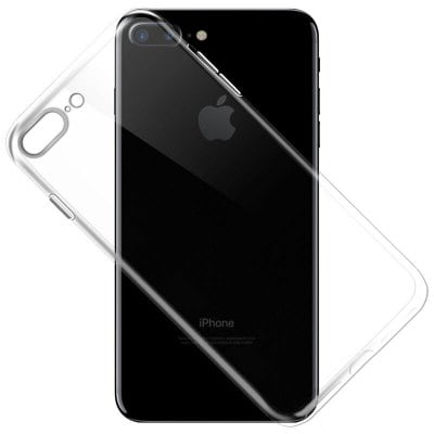 Funda de TPU flexible y delgada transparente para iPhone 7 Plus / 8 Plus