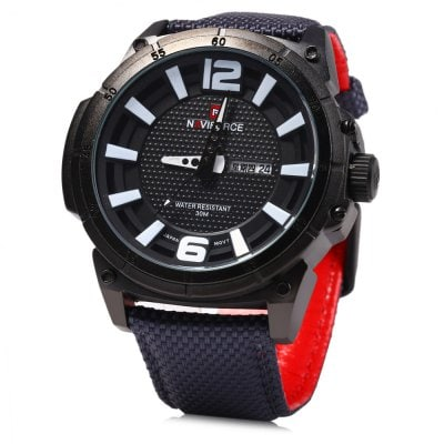 Reloj Naviforce 9066 Day Date Display Hombre Quartz Watch