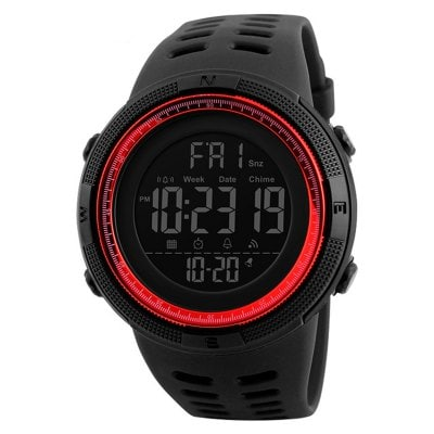 Mens Sports Dive 50m Digital LED Militar Casual Relógios de pulso