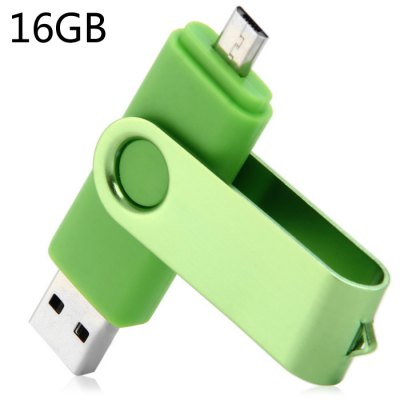 2 en 1 de 16GB USB OTG 2.0 de Flash Drive