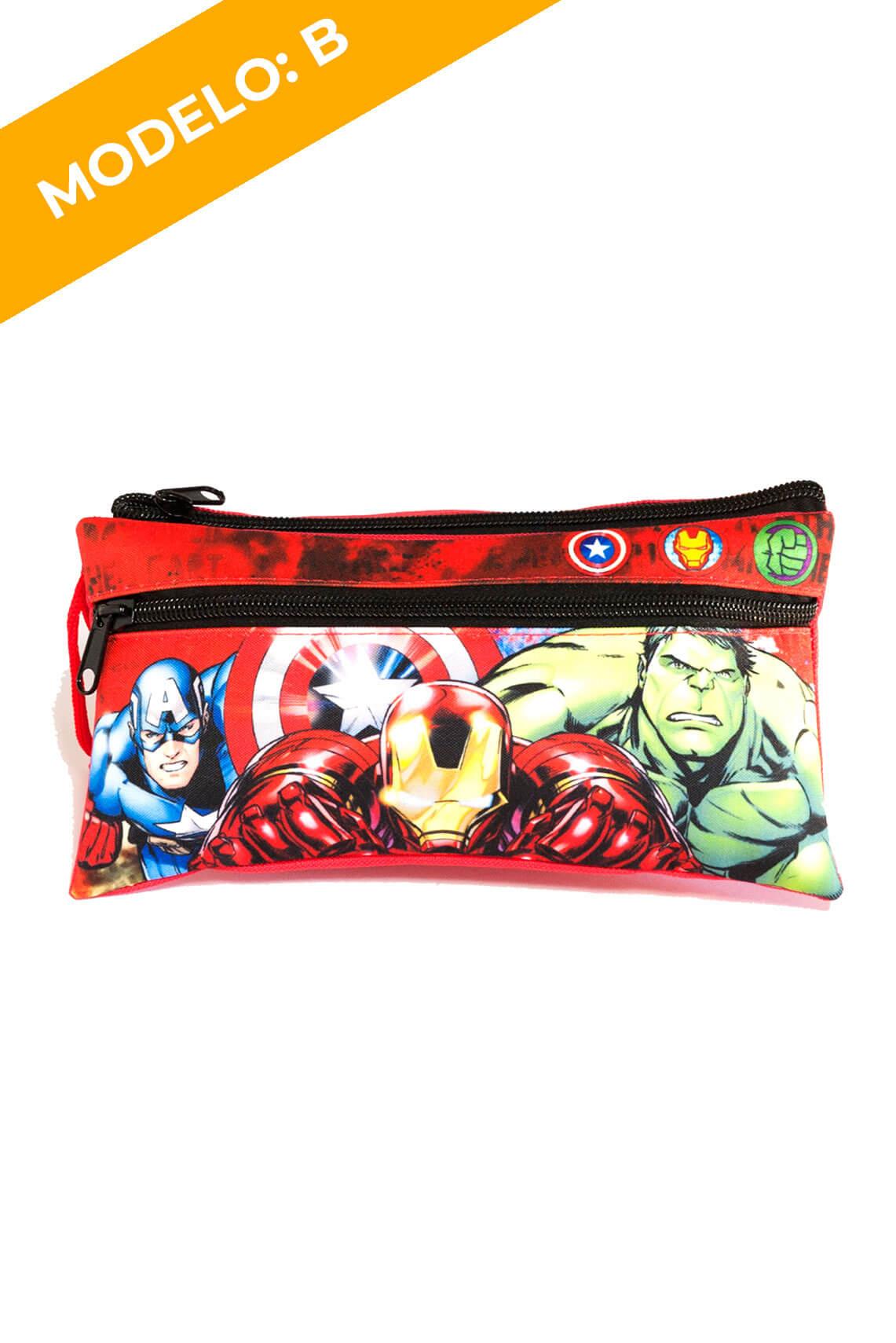 Estuche Doble Cierre Avengers 2 Diseños