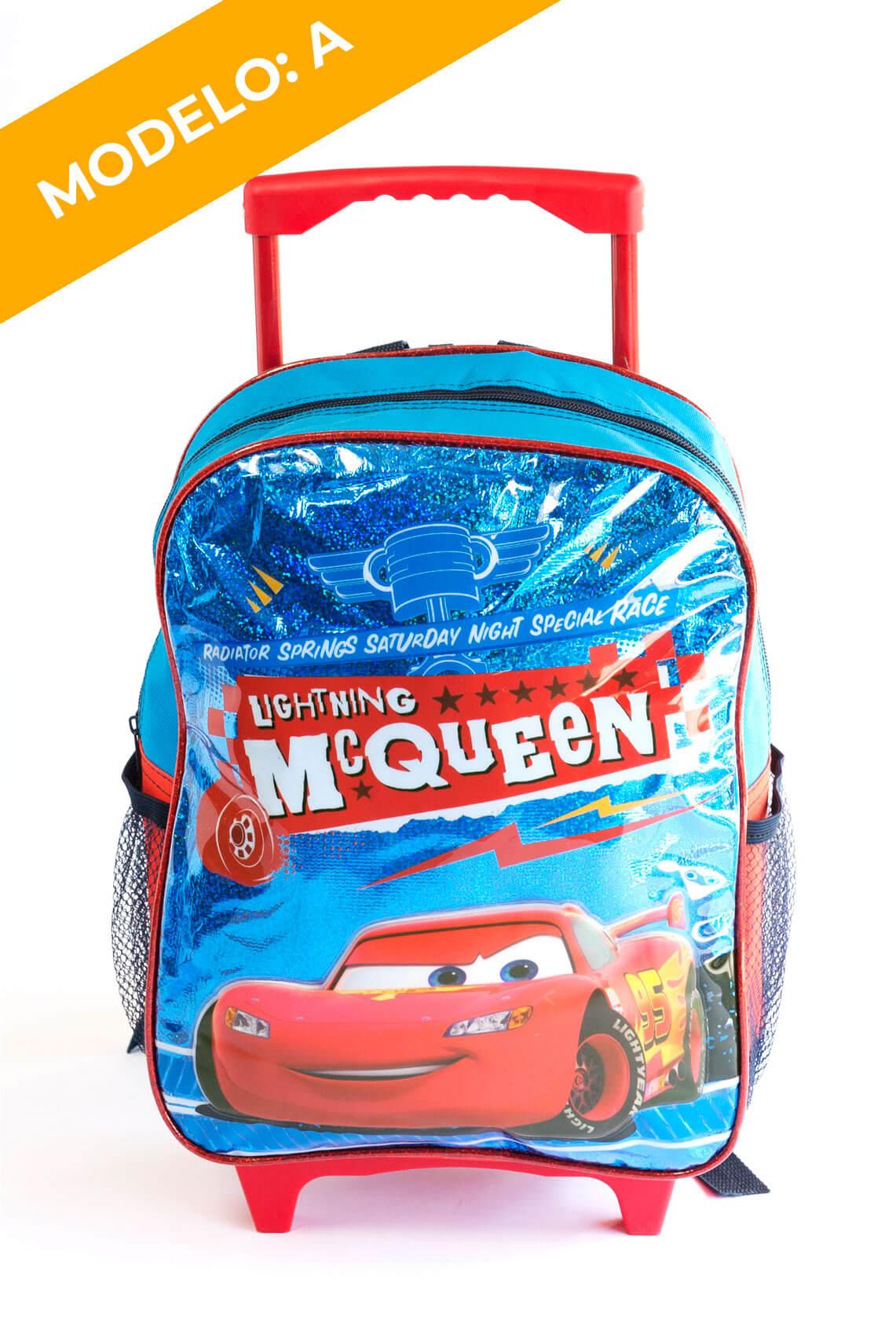 Mochila Cars con Ruedas 2 Diseños