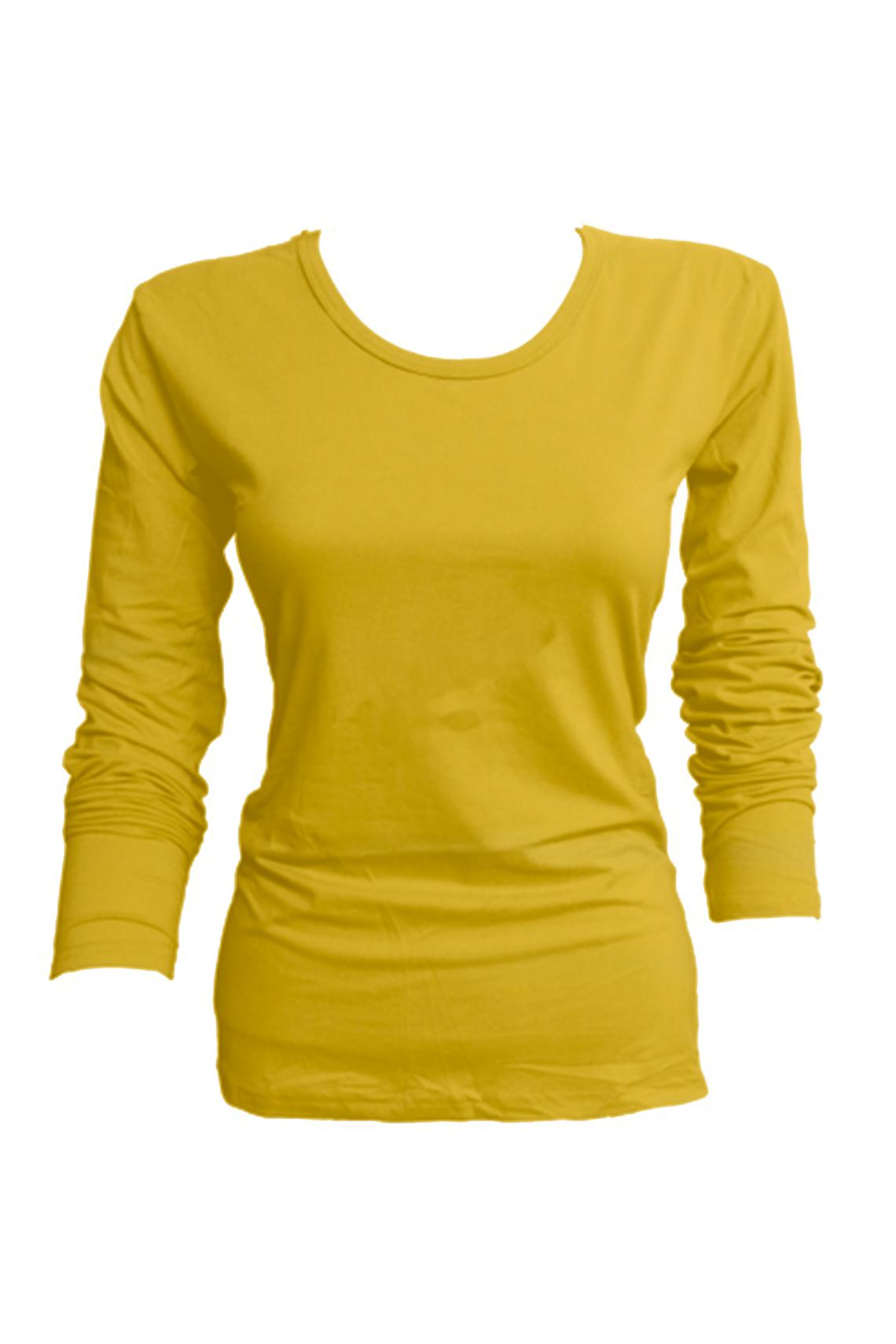Camiseta bambú M/L amarillo mostaza L - XXL