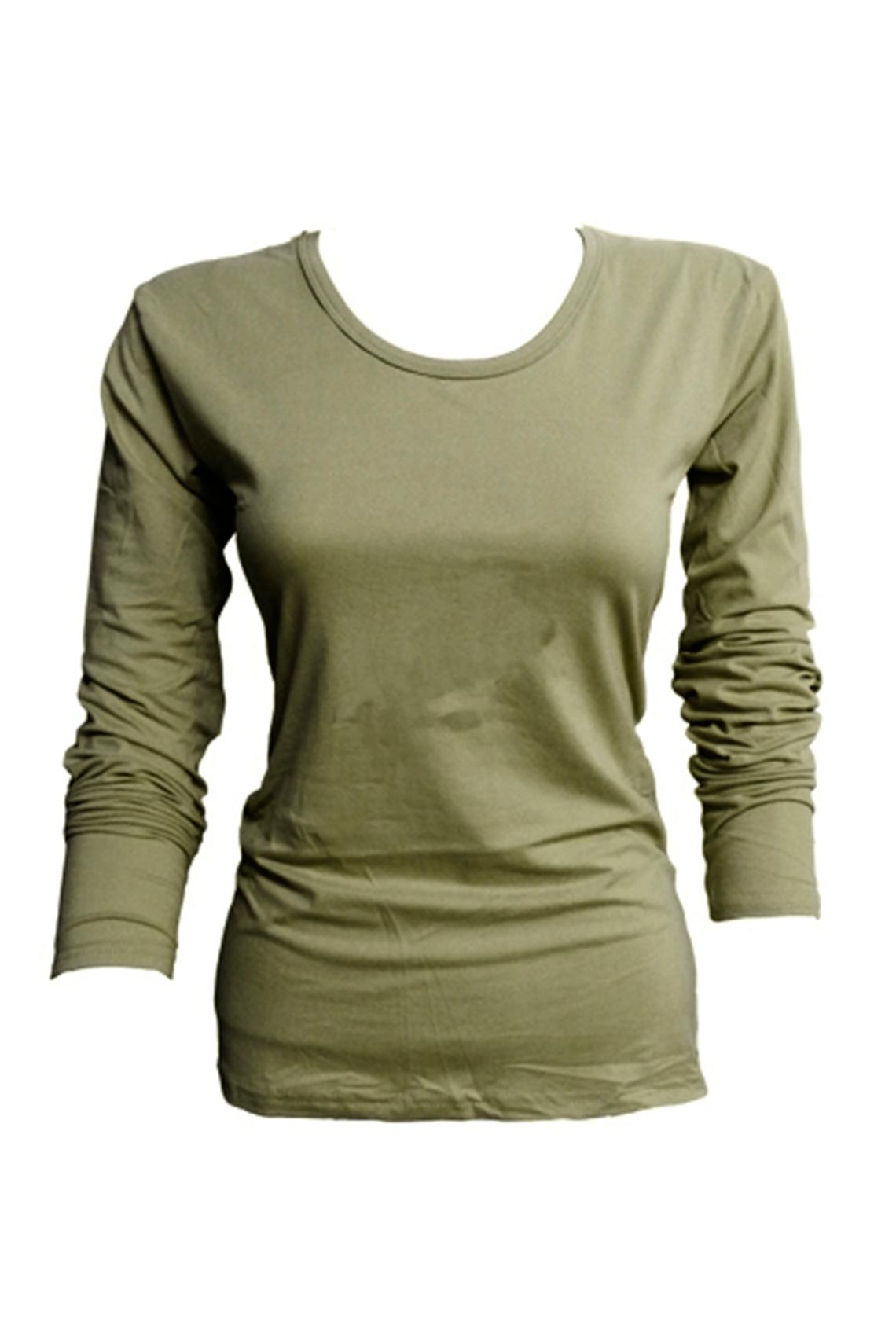 Camiseta bambú M/L verde musgo L - XXL