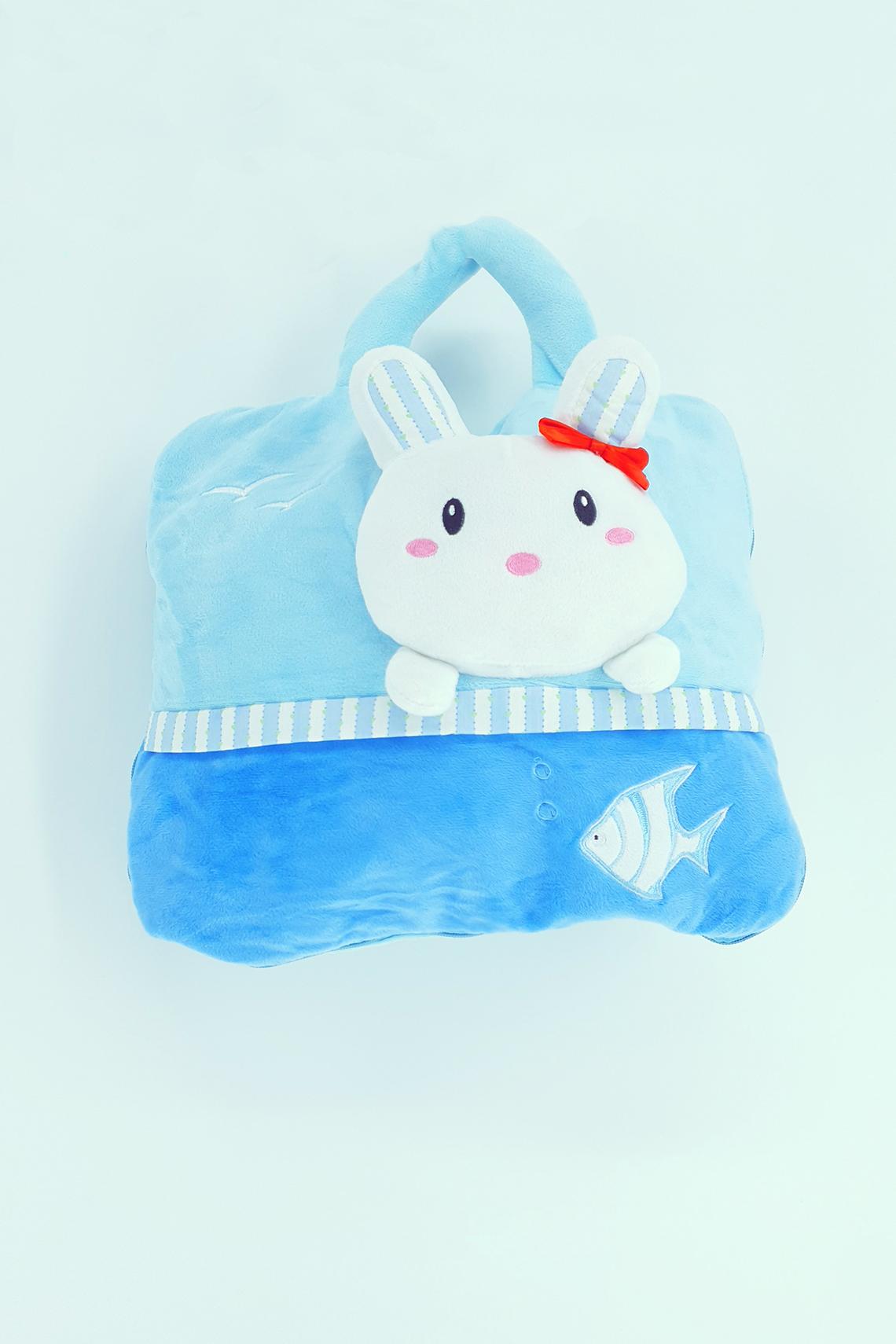Frazada cartera Conejo azul