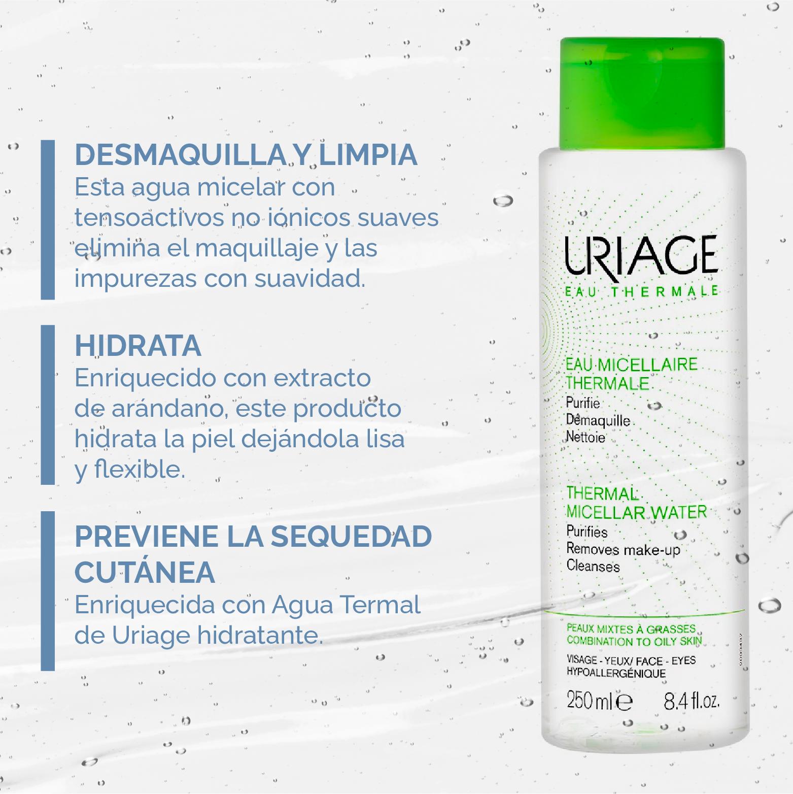 Agua Micelar Uriage piel mixta - grasa