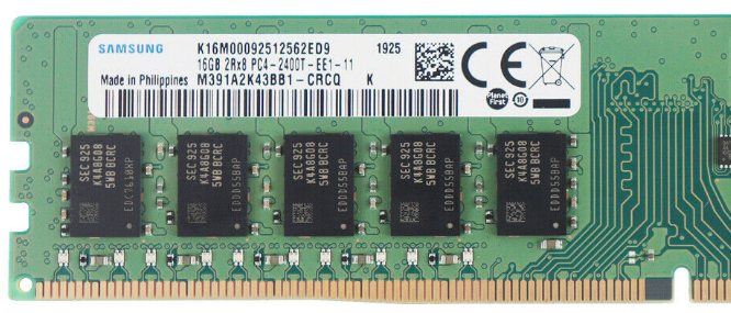 Memoria Ram 16gb / 2400Mhz EDIMM PC4-19200E - 2400T / Ecc Unbuffered