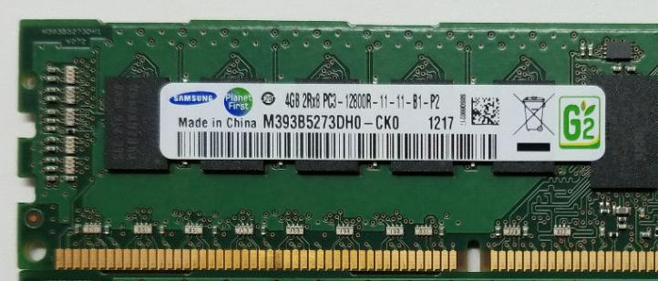 Memoria Ram 4gb / 1600Mhz RDIMM PC3-12800R / Ecc Registered