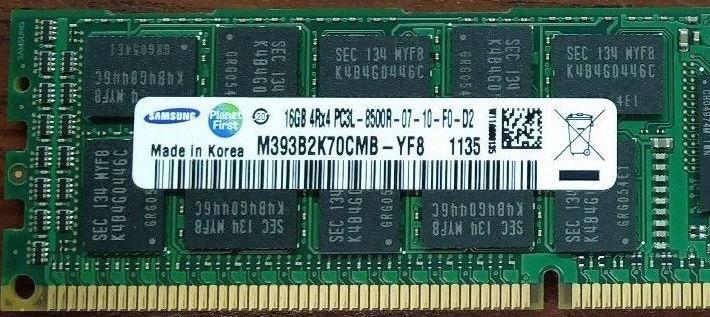 Memoria Ram 16gb / 1066Mhz RDIMM PC3-8500R / Ecc Registered