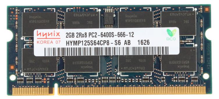 Memoria Ram 2gb / 800mhz SODDIM PC2-6400S