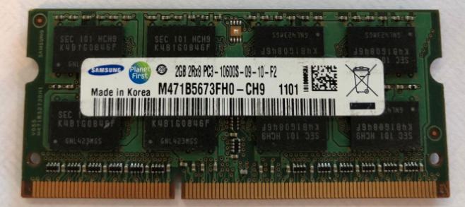 Memoria Ram 2gb / 1333mhz SODIMM PC3-10600S
