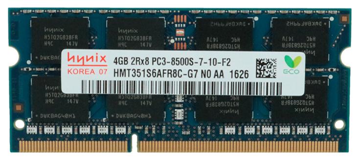 Memoria Ram 4gb / 1066mhz SODIMM PC3-8500S