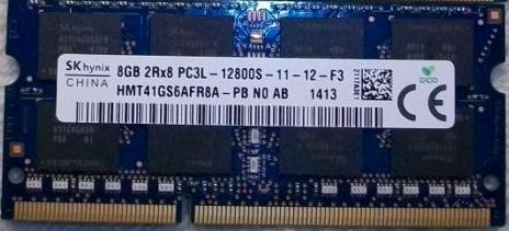 Memoria Ram 8gb / 1600Mhz SODIMM PC3L-12800S / 1.35v