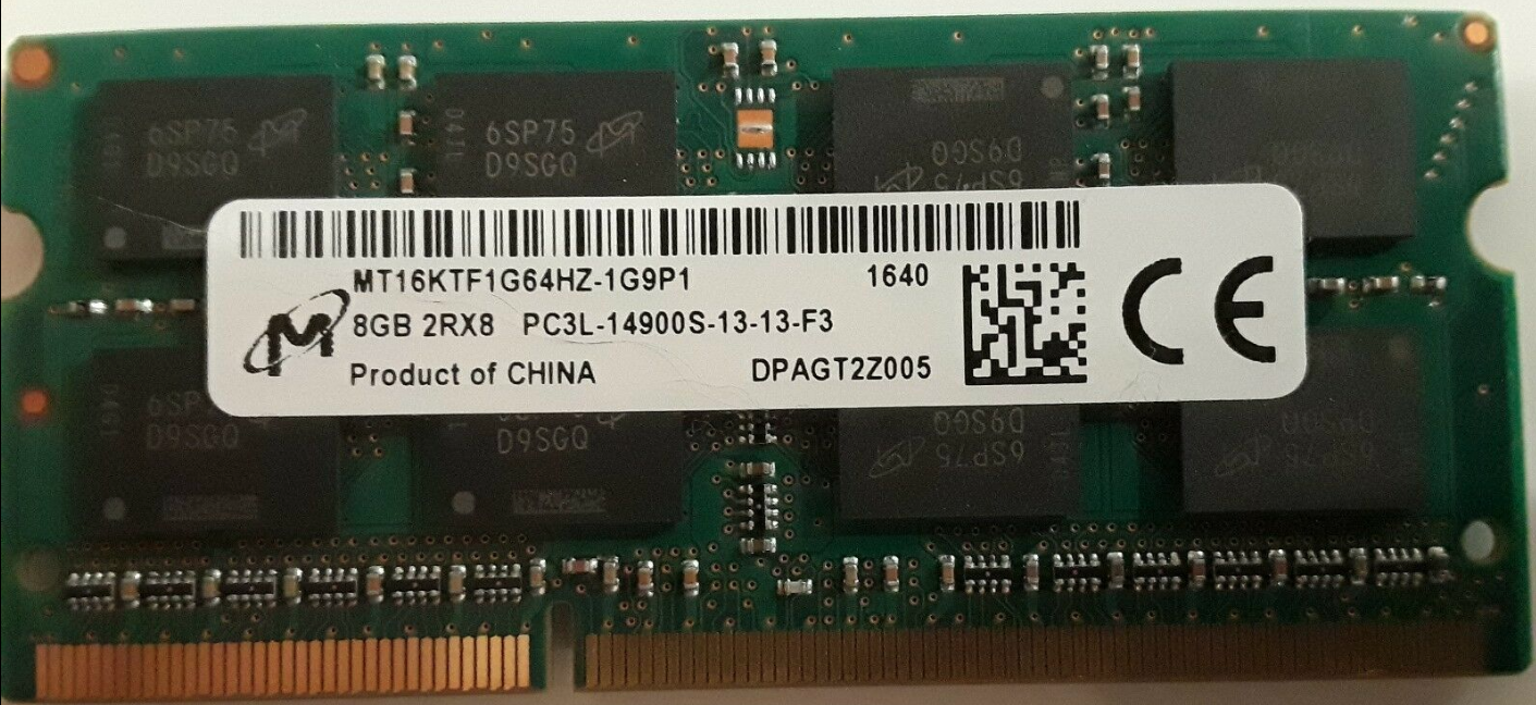 Memoria Ram 8gb / 1866Mhz SODIMM PC3L-14900S / 1.35v
