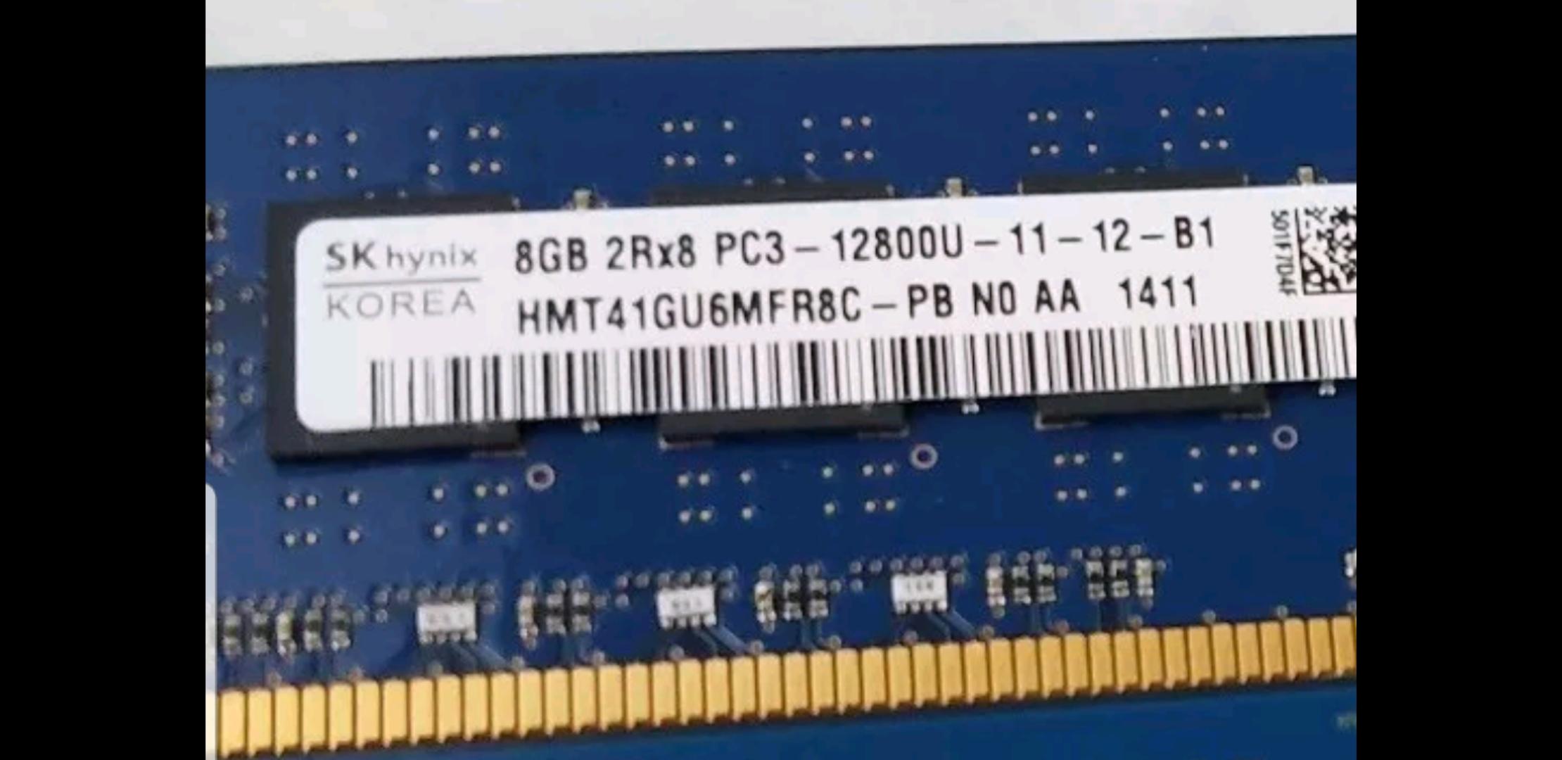 Memoria Ram 8gb / 1600Mhz UDIMM PC3-12800U
