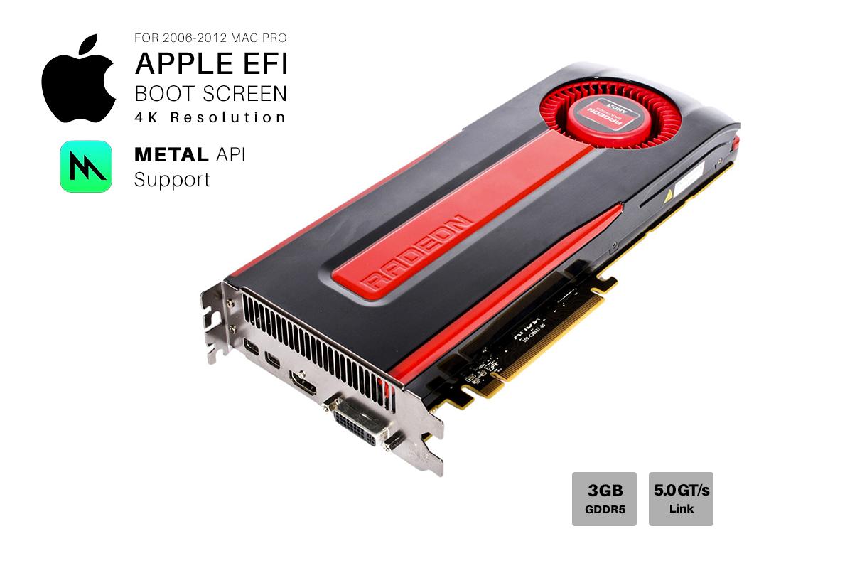 Tarjeta de Video Ati Radeon Amd HD 7970 3gb GDDR5 Apple Mac Pro Metal 4K 384-Bit MacPro