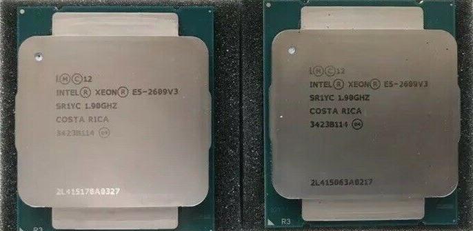 CPU Par Identico de Intel Xeon E5-2609 V3 SR1YC 1.9GHz 6-Core 85W Server CPU Processor