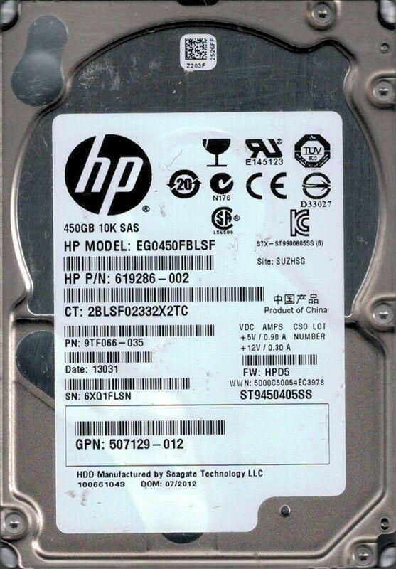 Disco Duro SAS 450GB HP 2.5