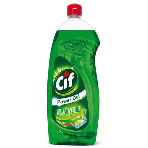 DETERGENTE MANUAL LOIÇA CIF POWER GEL LIMÃO VERDE 1L